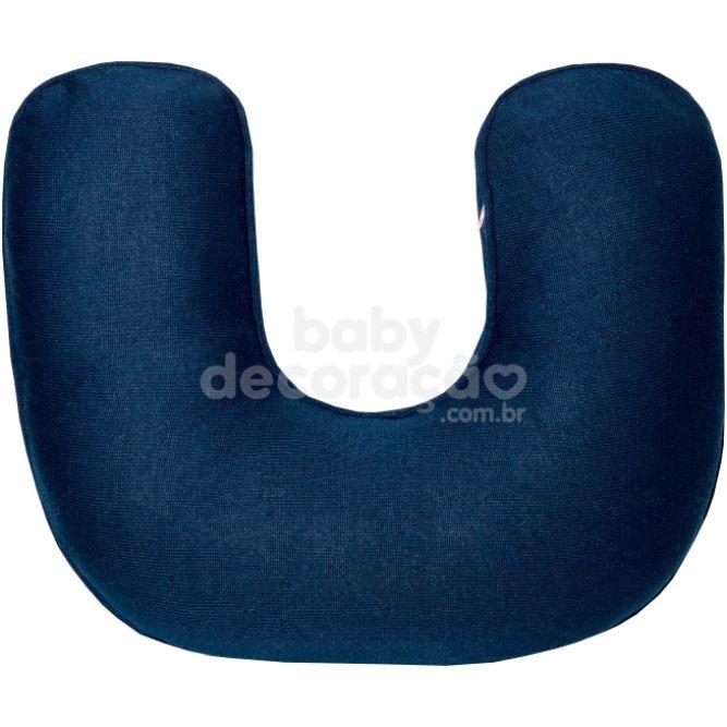 Almofada de Amamentação para Bebê Tricot Azul marinho