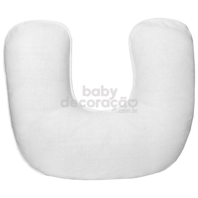 Almofada de Amamentação para Bebê Tricot Branco