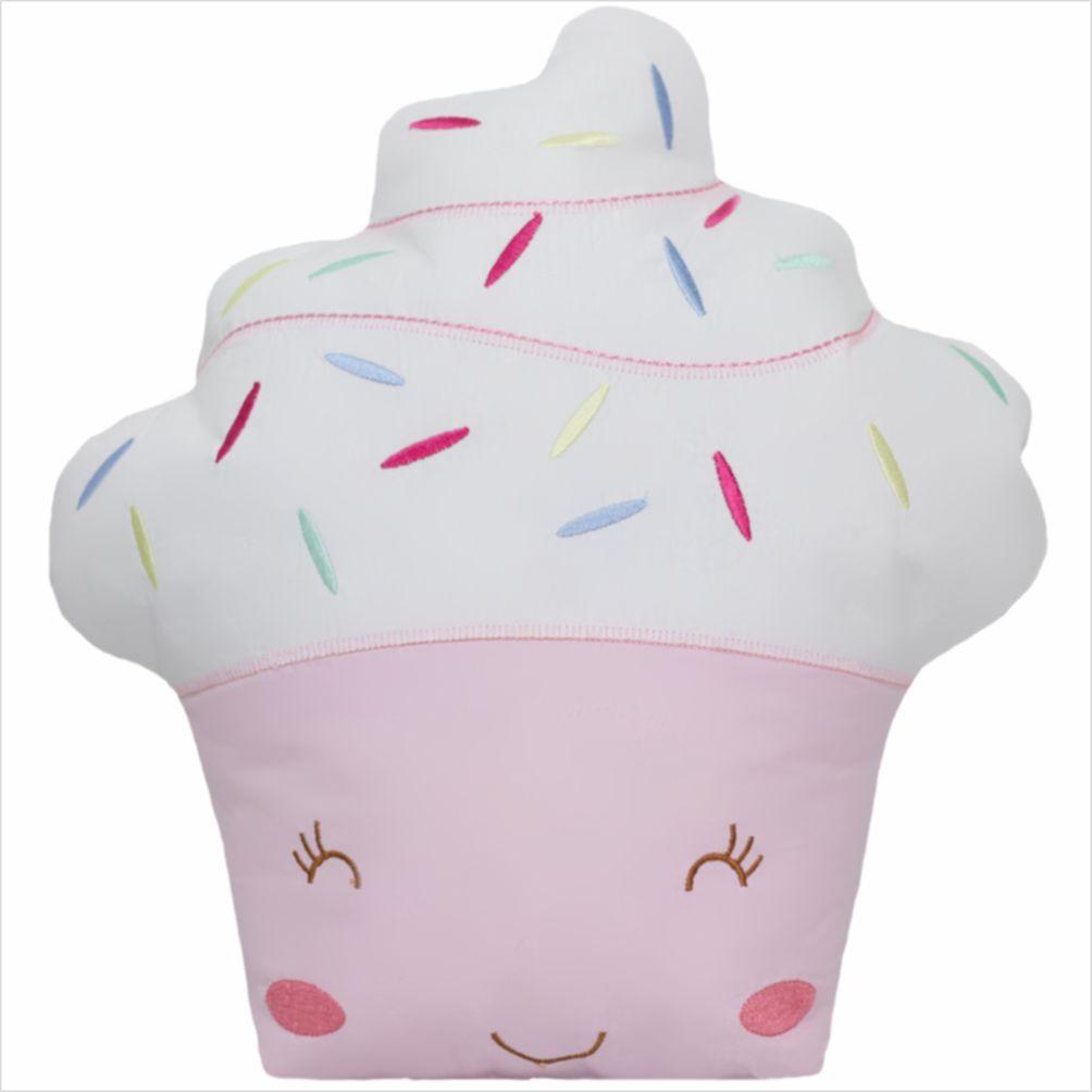 Almofada Decorativa Cupcake Rosa
