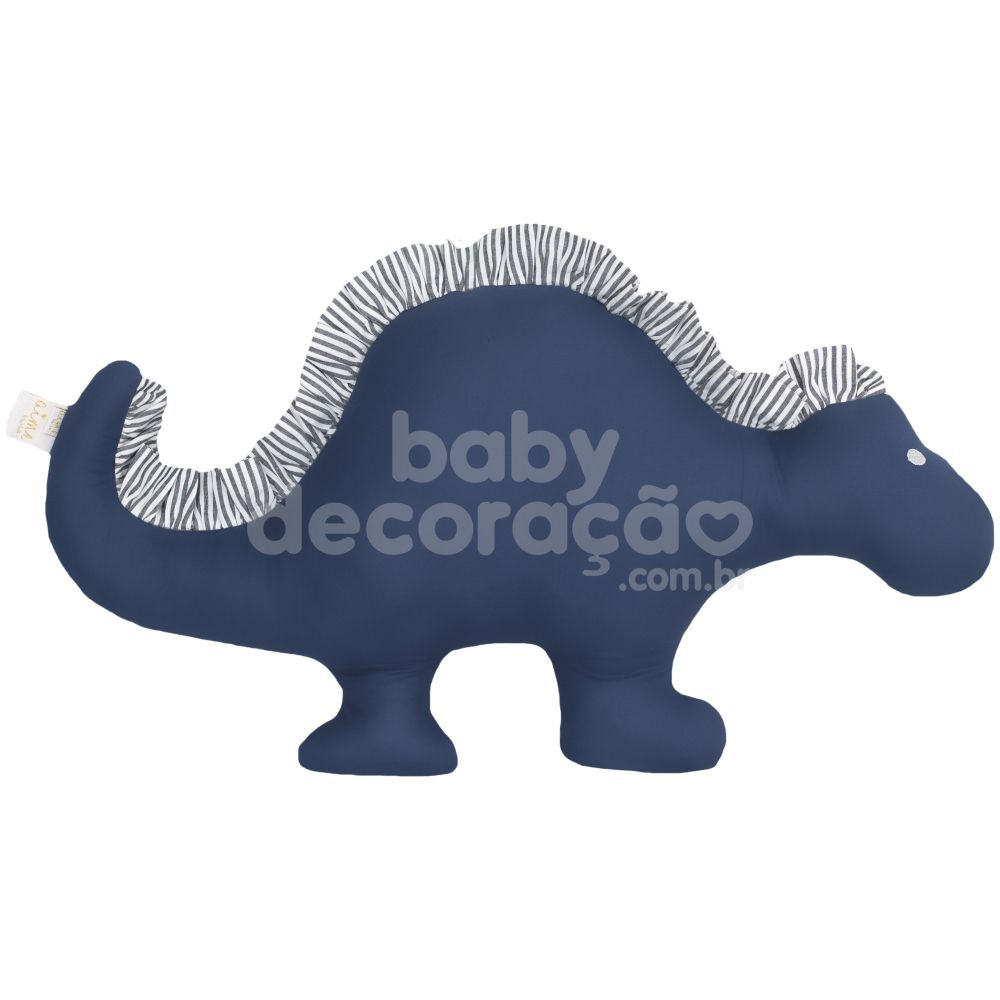 Almofada Decorativa Dinossauro 300 Fios Azul Marinho