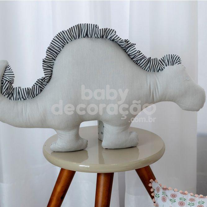 Almofada Decorativa Dinossauro 300 Fios Cinza