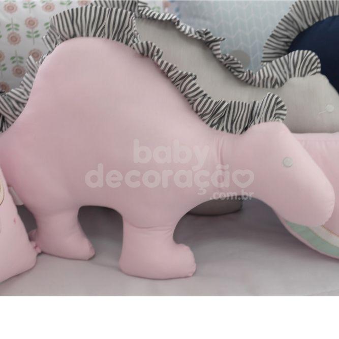 Almofada Decorativa Dinossauro 300 Fios Rosa