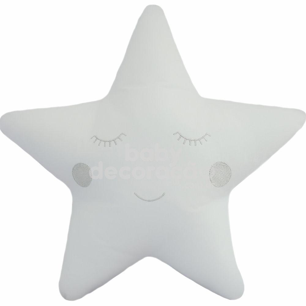 Almofada Decorativa Estrela Percal 300 fios Branco
