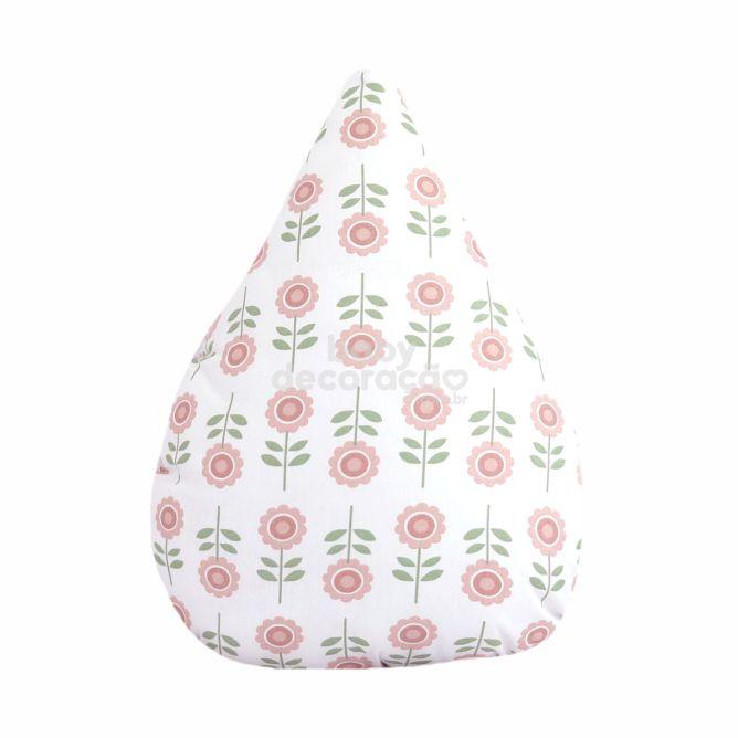 Almofada Decorativa Gota Elizabeth 180 fios Rosa Velho