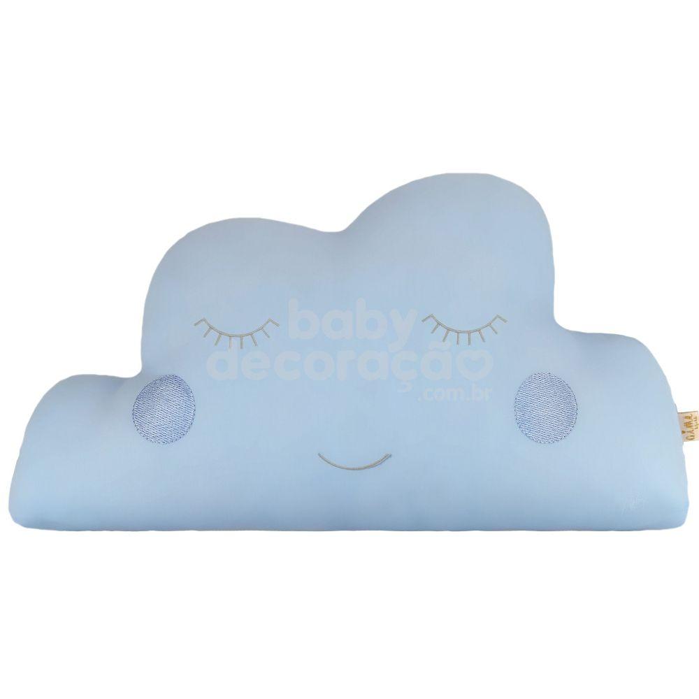 Almofada Decorativa Nuvem Percal 300 fios Azul bebê