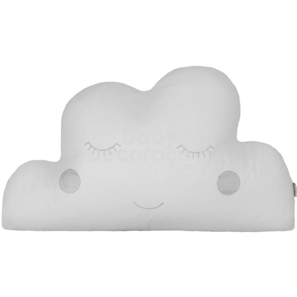 Almofada Decorativa Nuvem Percal 300 fios Branco