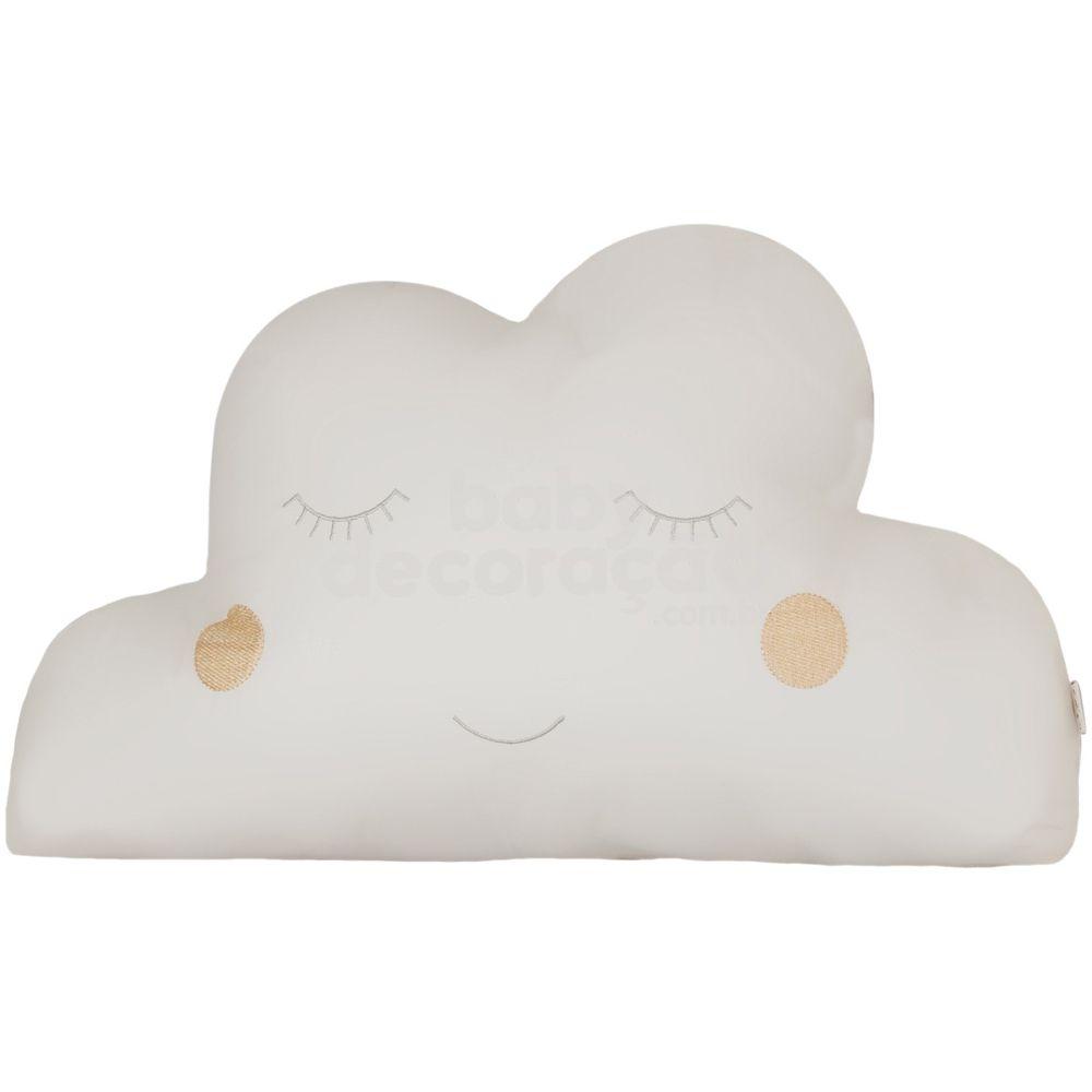 Almofada Decorativa Nuvem Percal 300 fios Marfim