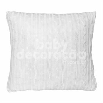 Almofada Decorativa Quadrada Tricot Lauren Branco