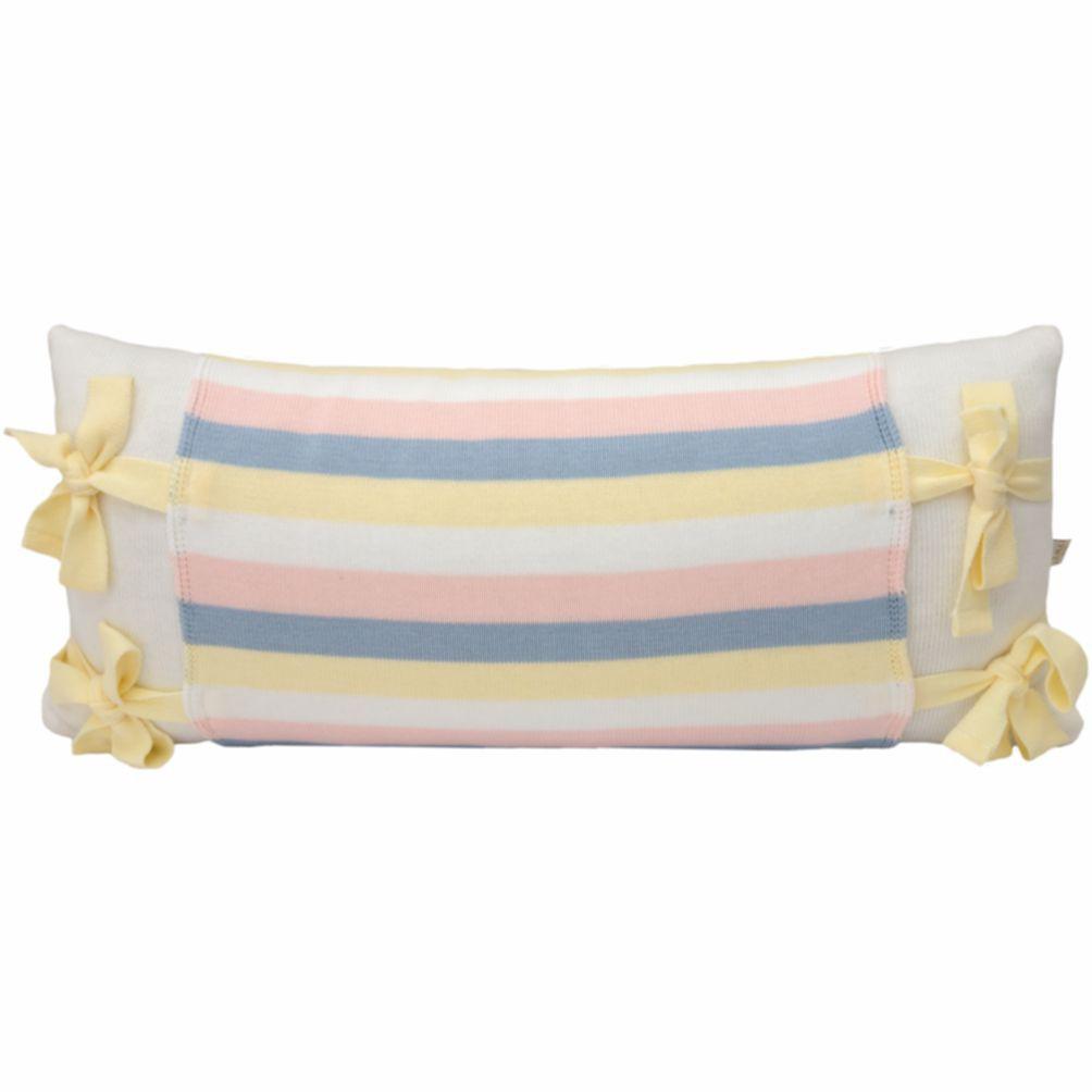 Almofada Decorativa Retangular Tricot Meia Malha Branca com Avental Marshmallow