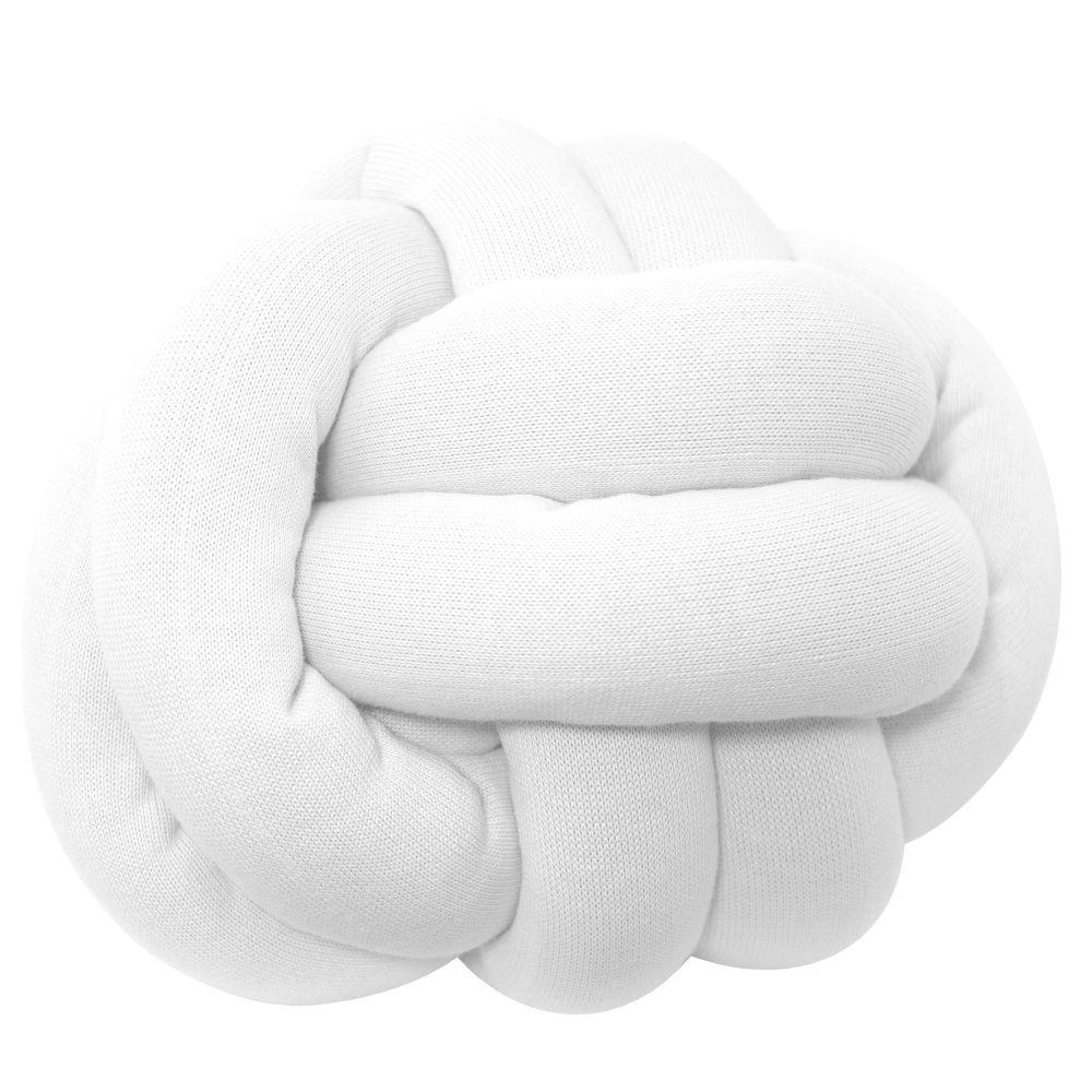 Almofada Decorativa Tricot Nó Escandinavo Branco