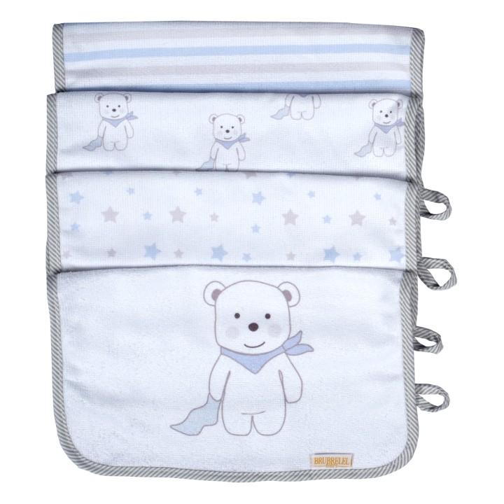 Boquinha Felpa 04 Peças Ursinho Azul Bebê