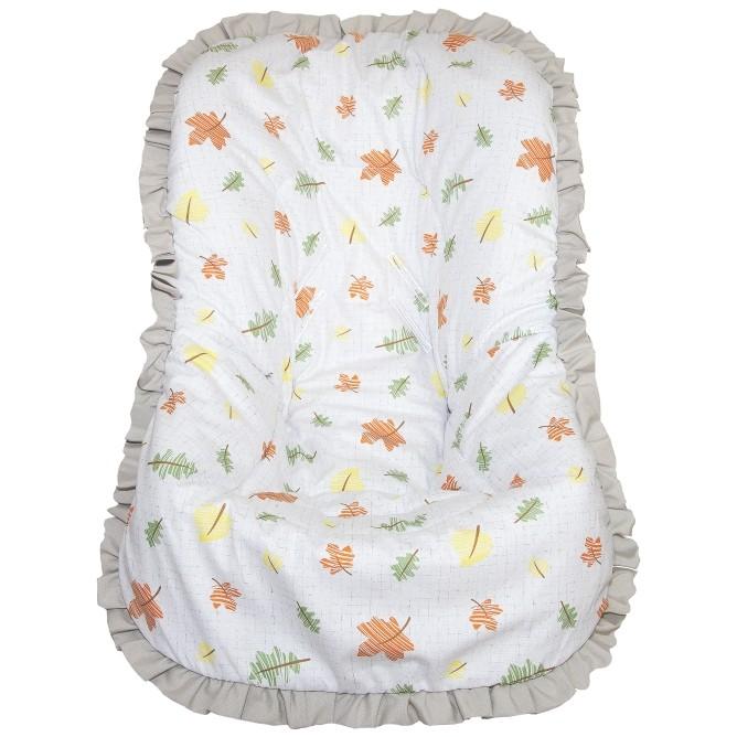 Capa de Bebê Conforto Nacional até 13kg - Folhas