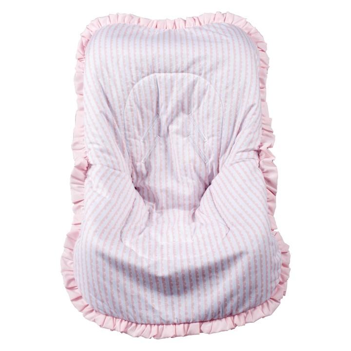 Capa de Bebê Conforto Nacional até 13kg - Ondas Rosa