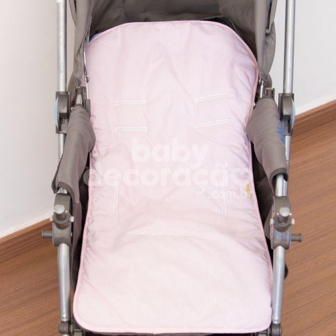 Capa Para Carrinho Estampada Diny Rosa Premium