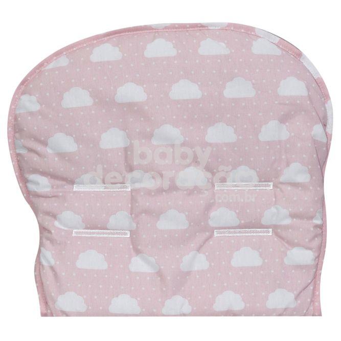 Capa Para Carrinho Estampada Nuvenzinha Rosa Premium