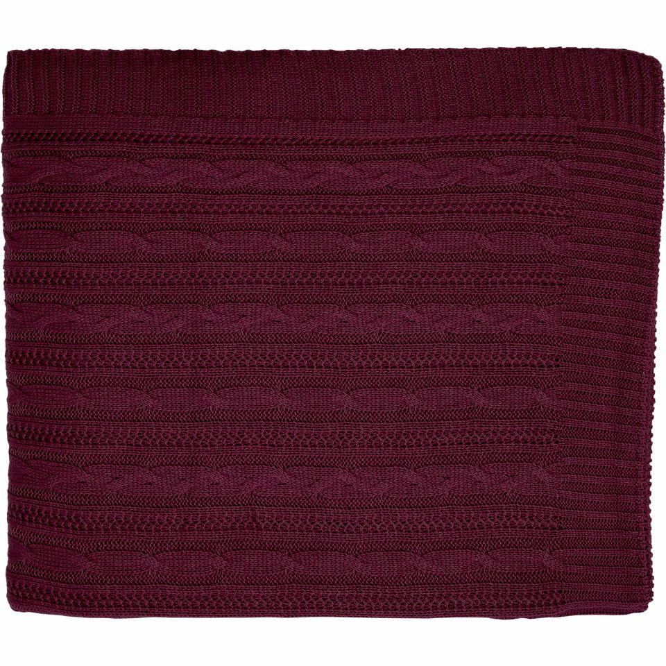 Cobre Leito Para Cama Auxiliar Tricot Lauren Magenta Purple