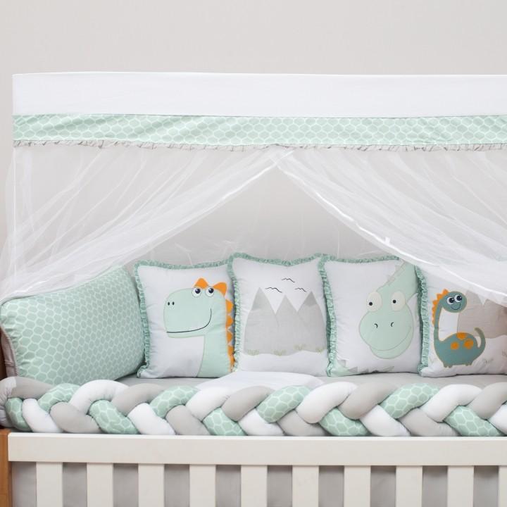 Kit de Berço 10 Peças Dinos Baby Magia Brubrelel Baby