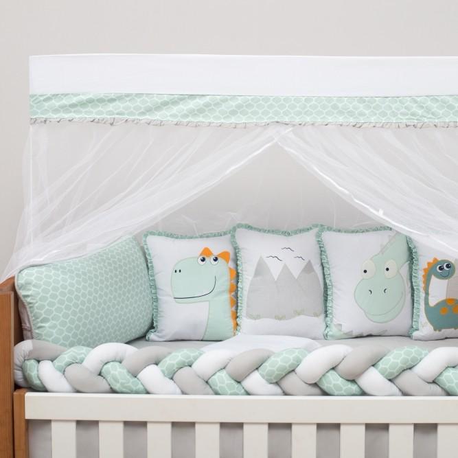 Kit de Berço 10 Peças Dinos Baby Magia Verde Brubrelel Baby