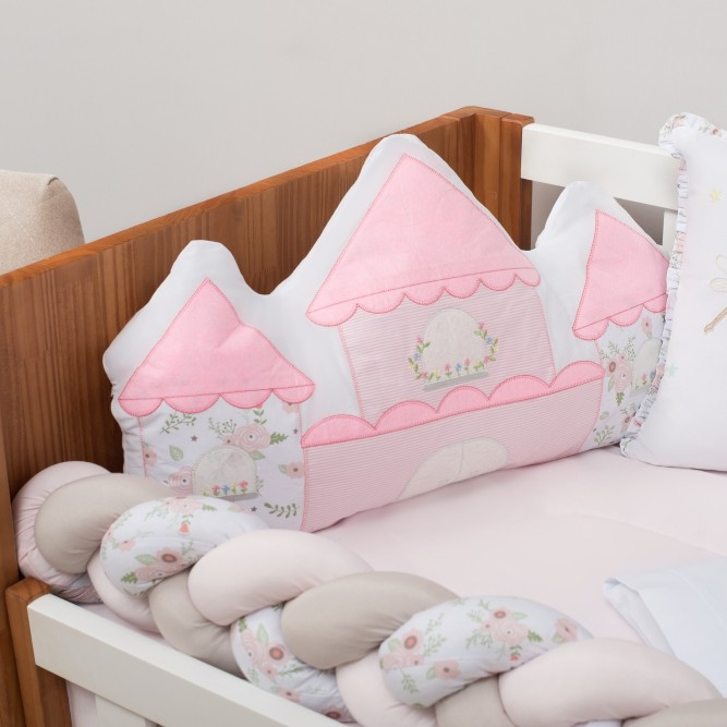 Kit de Berço 10 Peças Reino Encantado Baby Magia Rosa Brubrelel Baby