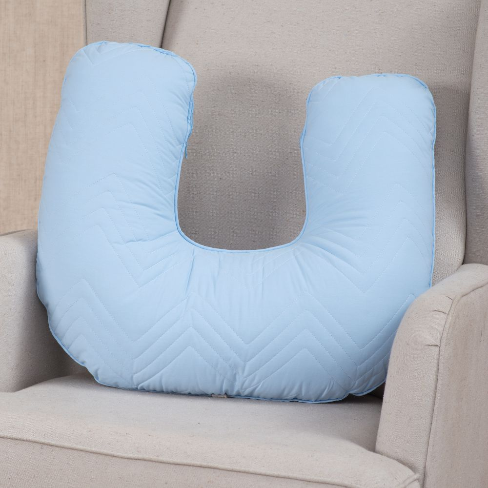 Kit Essencial 05 peças 100% algodão - Matelassê 300 fios Azul bebê