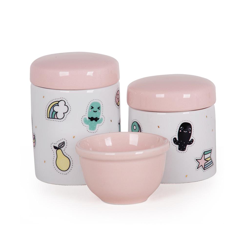 Kit Higiene 03 Peças Candy Colors