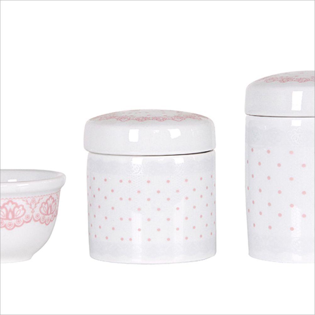 Kit Higiene 03 Peças Rendas