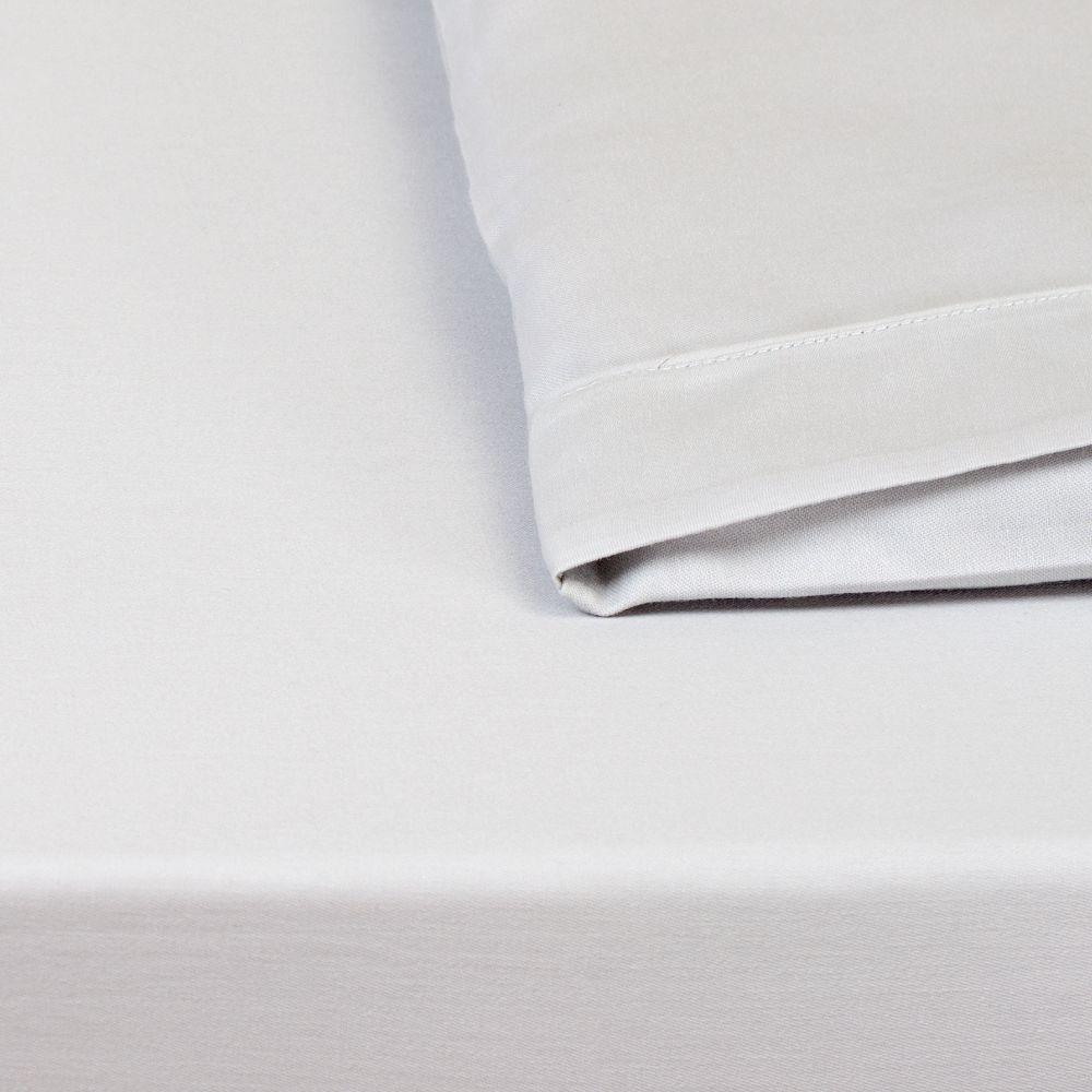 Lençol para Mini Berço c/ Elastico 02 Peças 100% Algodão Percal 300 Fios Cinza