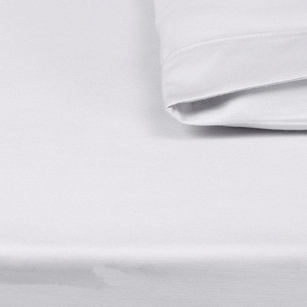 Lençol para Mini Berço c/ Elastico 02 Peças 100% Algodão Percal 300 Fios Branco