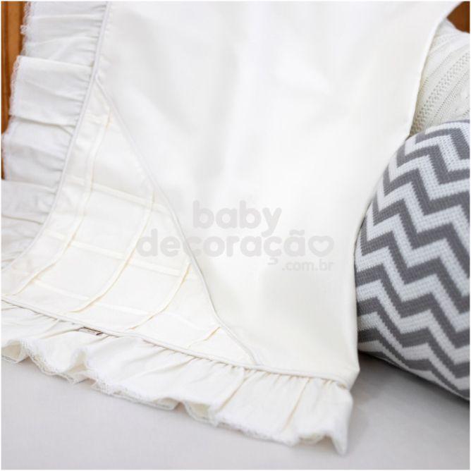 Manta para Bebê Nervurada 300 Fios Marfim