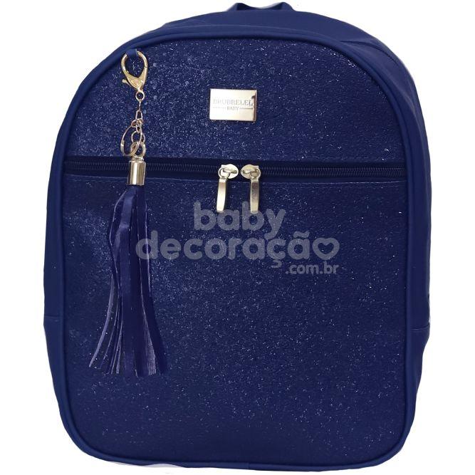 Mochila c/ Pingente Sunshine Azul Marinho