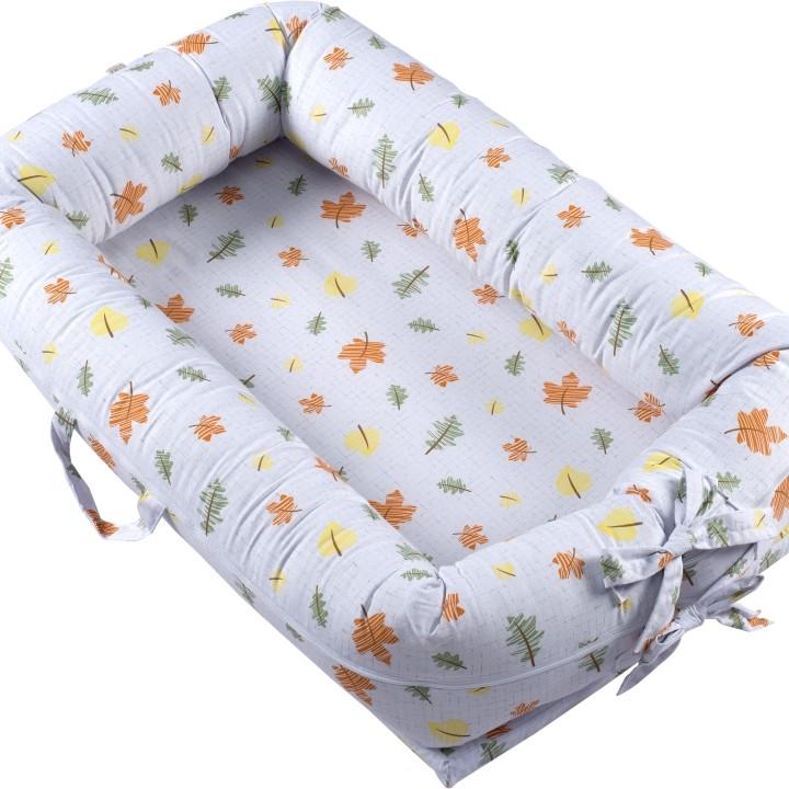 Ninho para bebê redutor de berço Folhas
