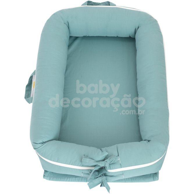 Ninho para bebê redutor de berço Percal  Verde Balsámo