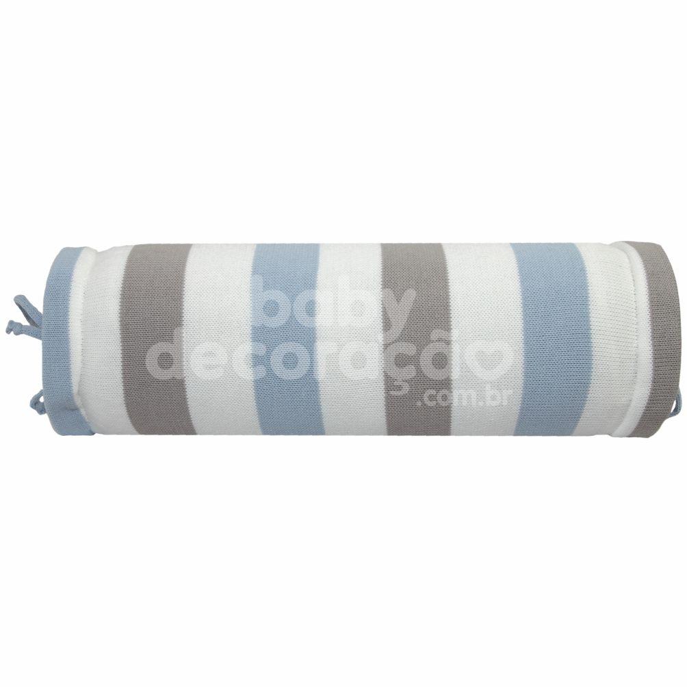 Rolinho Avulso para Mini Berço ou Berço Tricot  Lines Azul Bebê (40 cm x 13 cm)