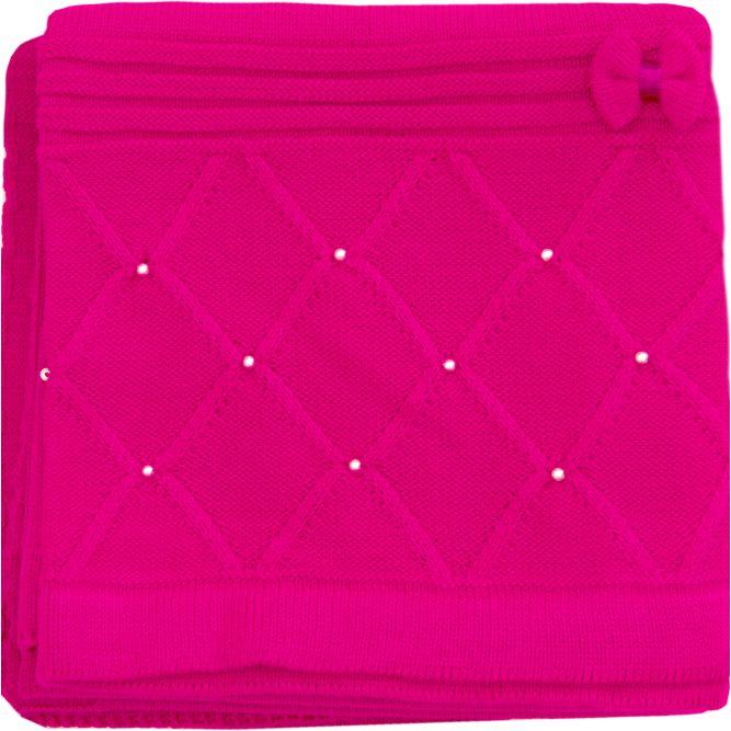 Saída Maternidade 02 Peças Tricot Macacão Alice com Detalhes Lacinho Pink