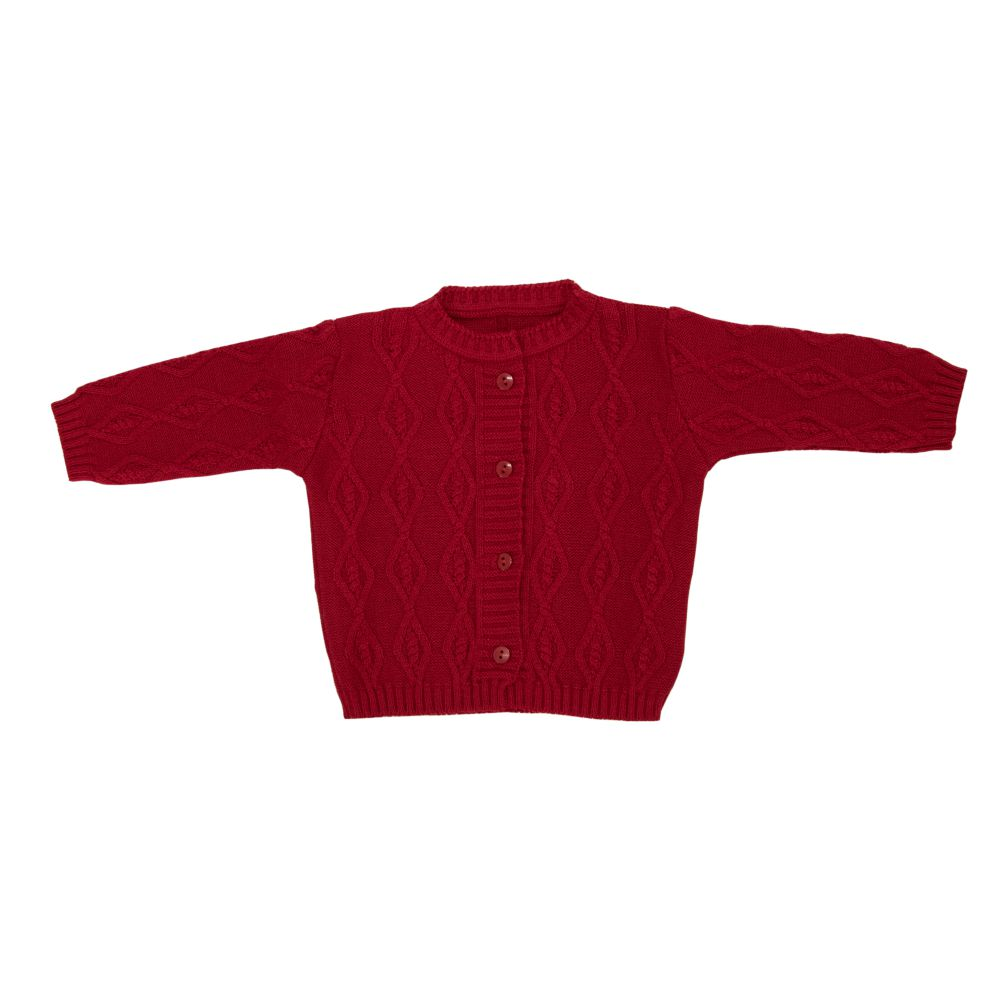 Saída Maternidade 03 Peças Tricot Glamour com Macacão Vermelho
