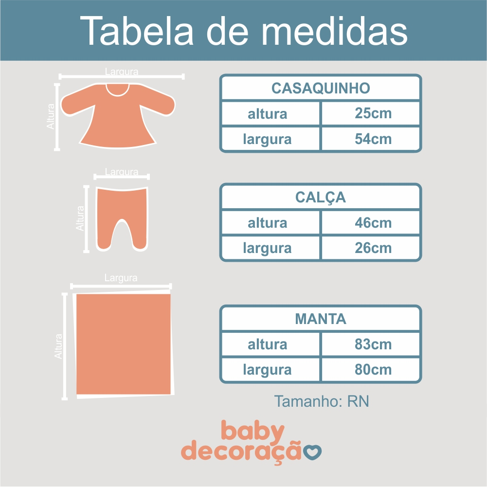 Saída Maternidade 03 Peças Tricot Léo Listrado com Calça Vermelho