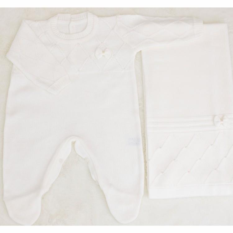 Saida Maternidade 02 peças Tricot Delicate Branco