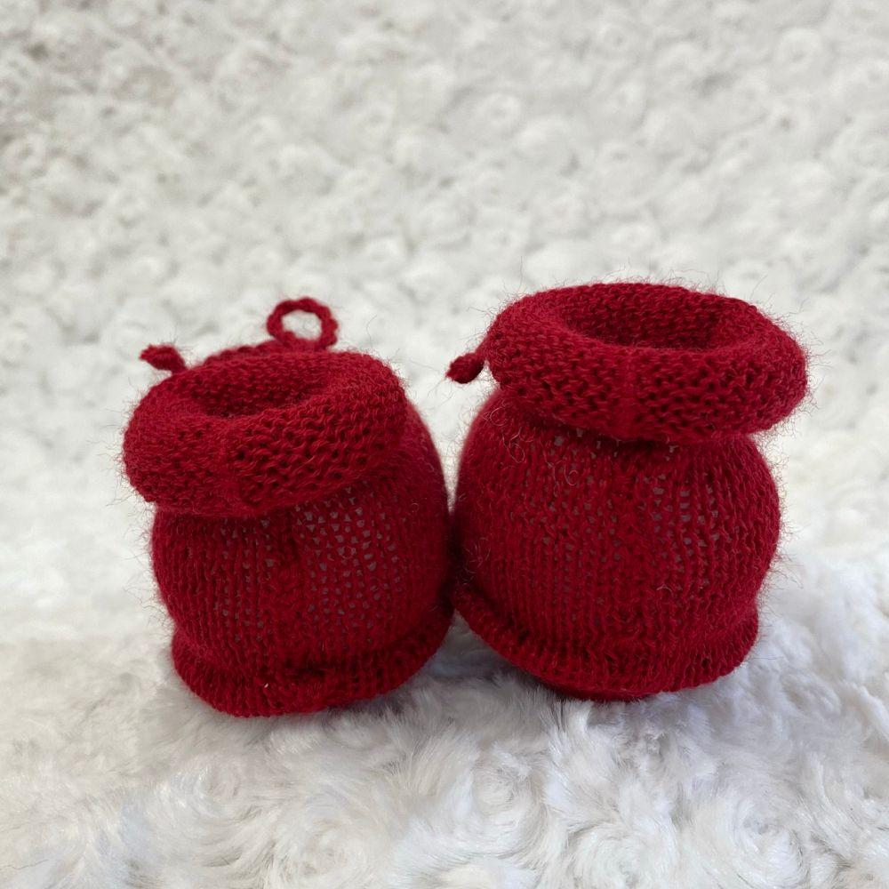 Sapatinho Tricot para Bebê Basic Vermelho
