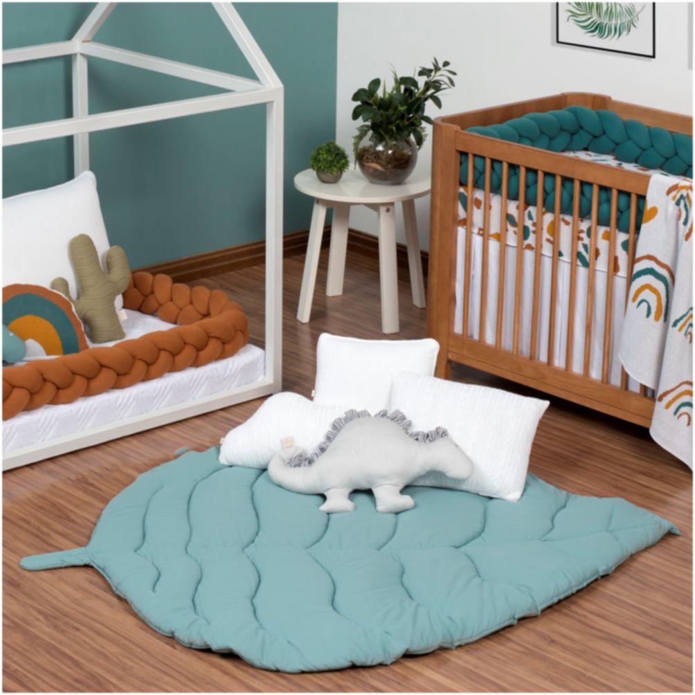 Tapete Decorativo Para Bebê E Kids Folha Verde Balsamo