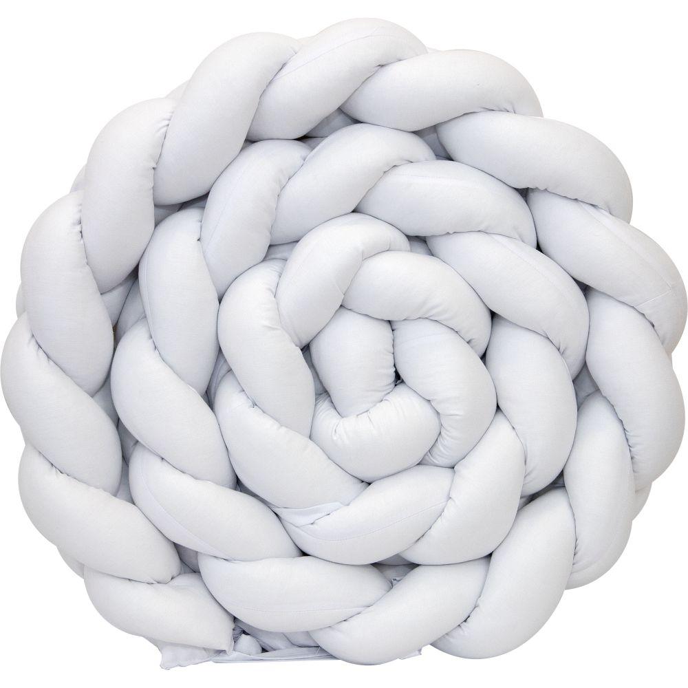 Trança Protetora De Mini Berço Percal 300 Fios Branco
