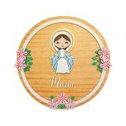 Placa Natural Pinus Nossa Senhora das Graças