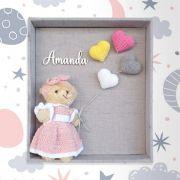Porta Maternidade Balão Coração Crochê