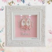 Porta Maternidade / Sapato e arabesco com pérolas