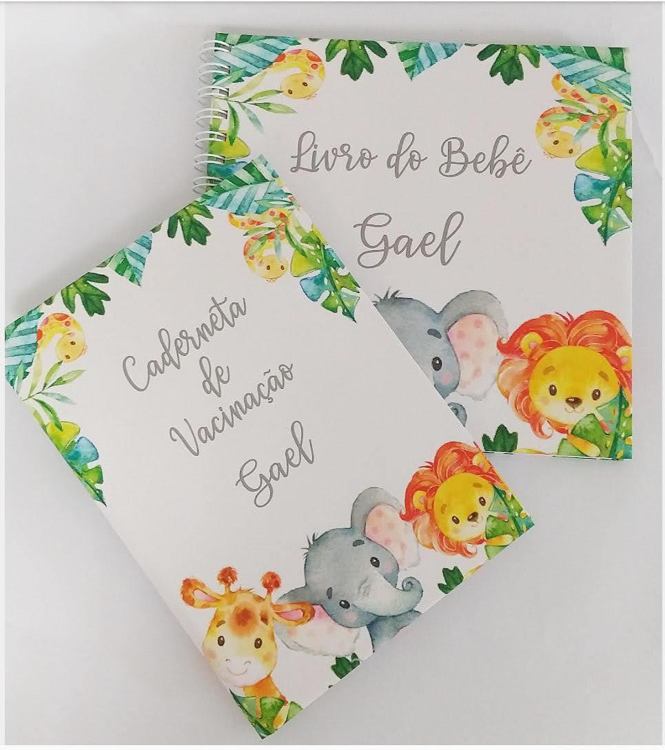 kit Capa de cartão de Vacina e Livro do bebê