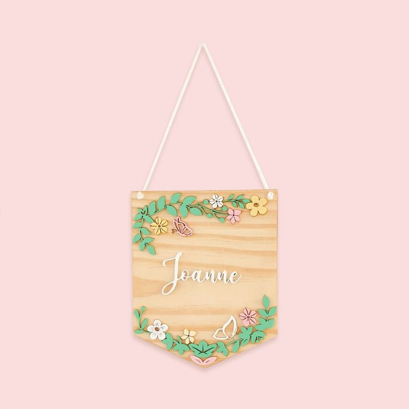 Placa Natural Pinus Floral