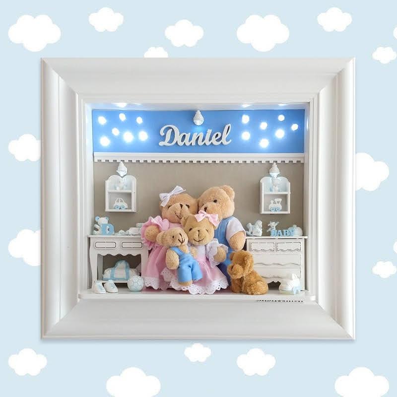 Porta Maternidade Familia Urso