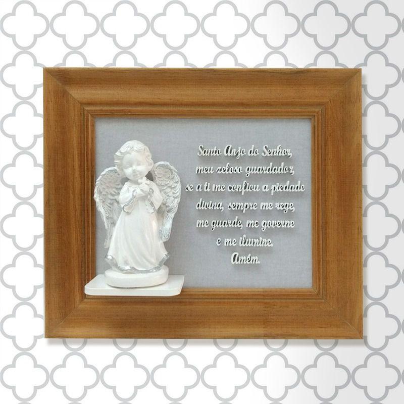 Quadro Oração Santo Anjo / Anjo Resina