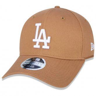 Boné New Era Aba Curva 3930 MLB Los Angeles Colors Marrom Claro