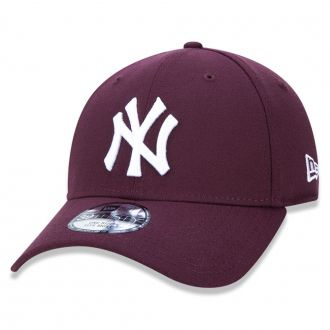 Boné New Era Aba Curva 3930 MLB NY Yankees Colors Bordô
