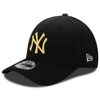 Boné New Era Aba Curva 3930 MLB NY Yankees Gold Preto